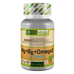 HERBioticum Mg + B6 + Omega3 Vitamin
