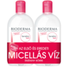 Bioderma Sensibio H2O arc- és sminklemosó micellaoldat DUO