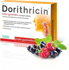 Dorithricin Erdei Gyümölcsös Szopogató Tabletta