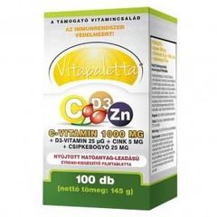 Vitapaletta C-vitamin 1000mg + D3 + Cink Filmtabletta