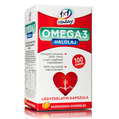 1x1 Vitaday Omega3 1000 mg halolaj lágyzselatin kapszula