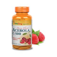 Vitaking Acerola C-500 rágótabletta málna (Raspberry)