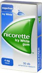 Nicorette Icy White gum 4mg gyógyszeres rágógumi