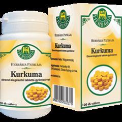 Kurkuma tabletta gyömbérrel Herbária