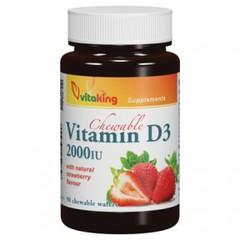 Vitaking D3-vitamin epres rágótabletta