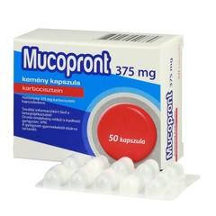 Mucopront 375mg kemény kapszula